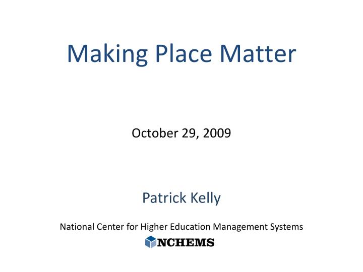 patrick kelly national center for higher education management systems n.