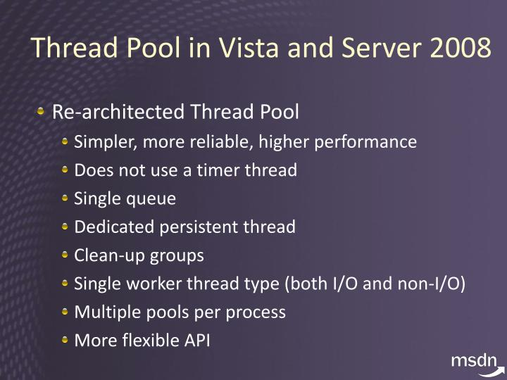 Thread Pool in Vista and Server 2008