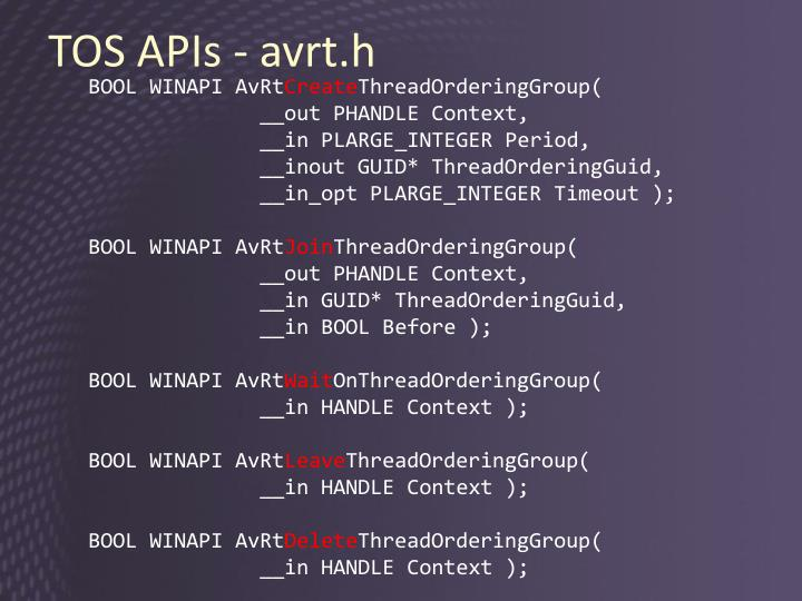 TOS APIs -