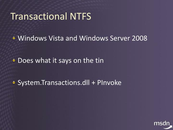 Transactional NTFS