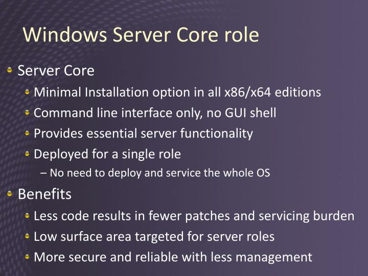 Windows Server Core role