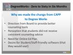 degreeworks zero to sixty in six months7