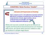 cheating nota tecnica invalsi