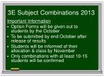 3e subject combinations 201312
