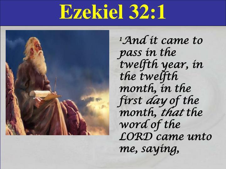 Ezekiel 32:1