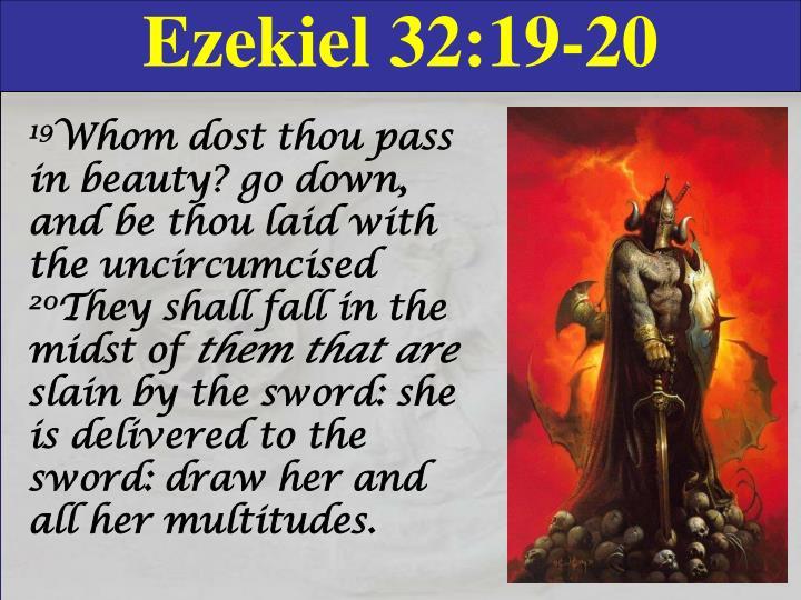 Ezekiel 32:19-20