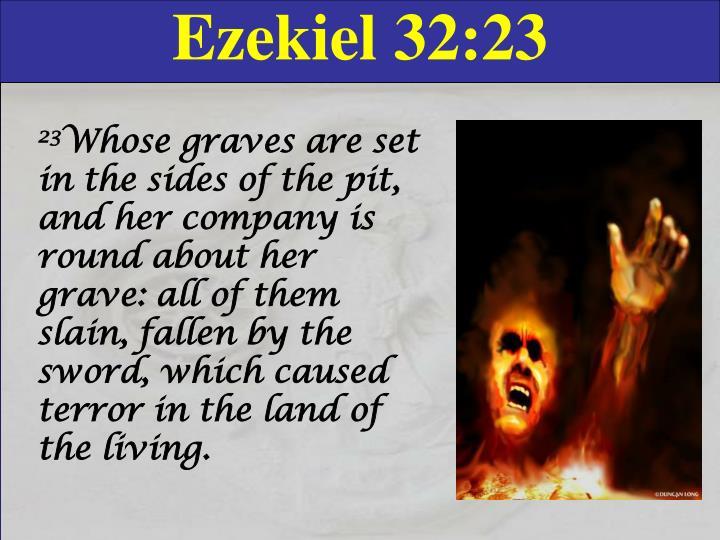 Ezekiel 32:23