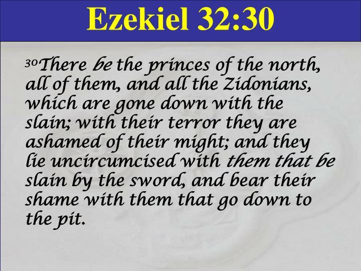 Ezekiel 32:30