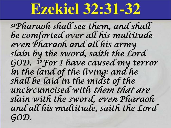 Ezekiel 32:31-32