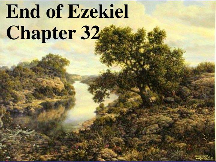 End of Ezekiel