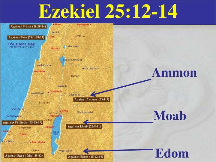 Ezekiel 25:12-14