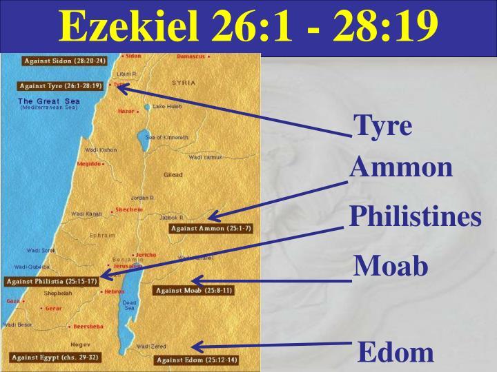 Ezekiel 26:1 - 28:19