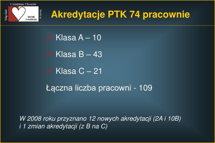 Akredytacje PTK 74 pracownie
