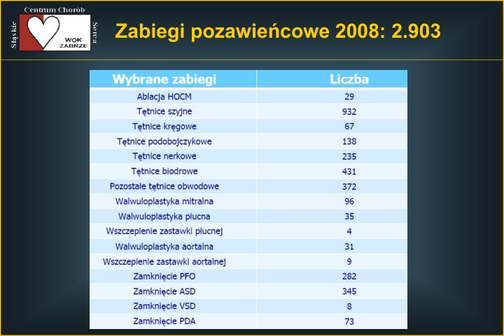 Zabiegi pozawieńcowe 2008: 2.903