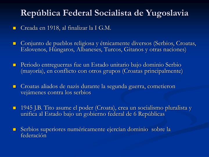 Rep blica federal socialista de yugoslavia