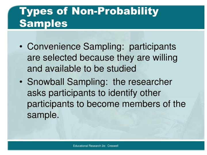 Types of Non-Probability Samples