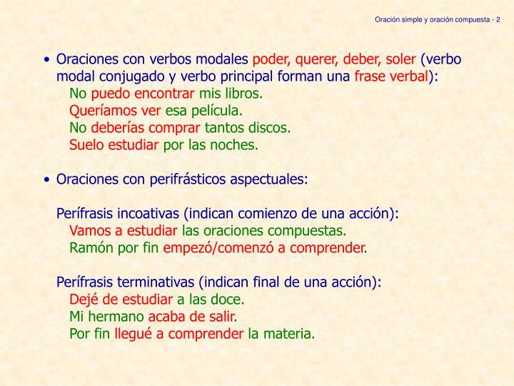 Oración simple y oración compuesta - 2