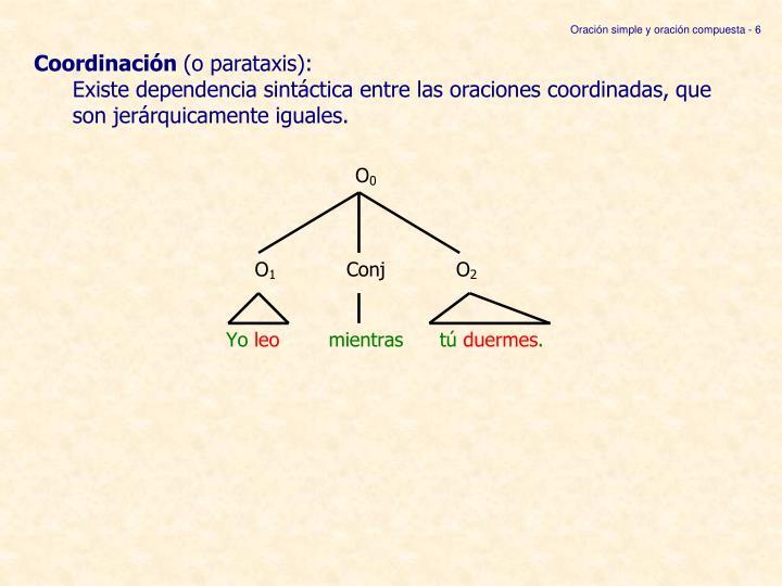 Oración simple y oración compuesta - 6