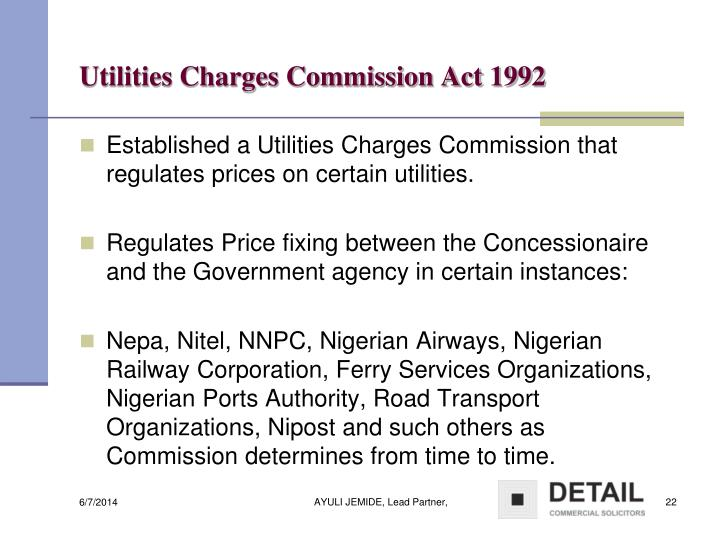Utilities Charges Commission Act 1992
