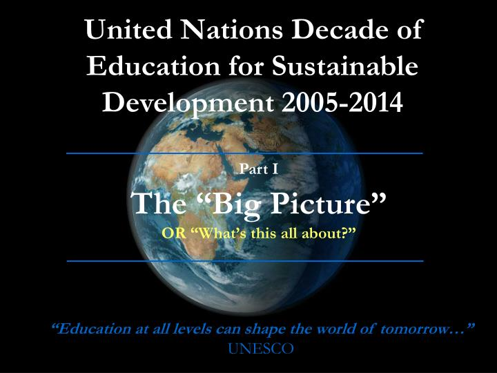 United Nations Decade of