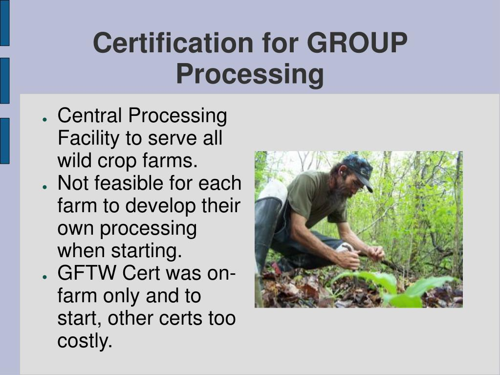 Certification for GROUP Processing