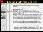 algunos informes en gc1