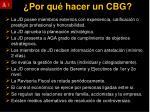 por qu hacer un cbg1