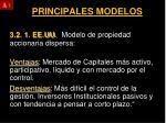 principales modelos