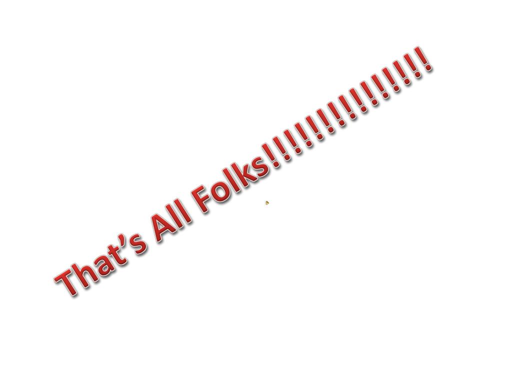 That's All Folks!!!!!!!!!!!!!!!
