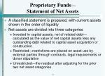 proprietary funds statement of net assets