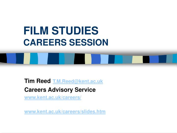 film studies careers session n.