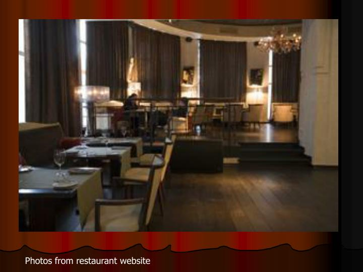 Photos from restaurant website