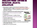 angajatii firmei criterii de recrutare selectia angajatilor