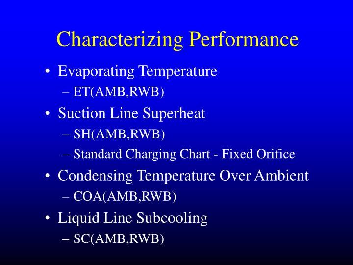 Characterizing Performance