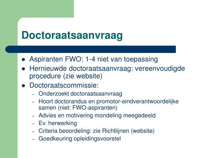 Doctoraatsaanvraag