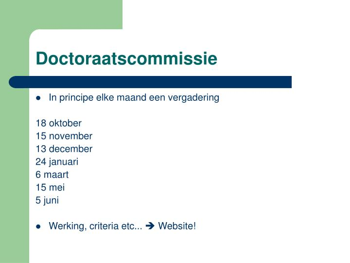 Doctoraatscommissie
