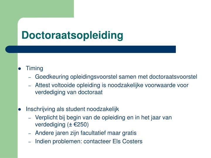 Doctoraatsopleiding