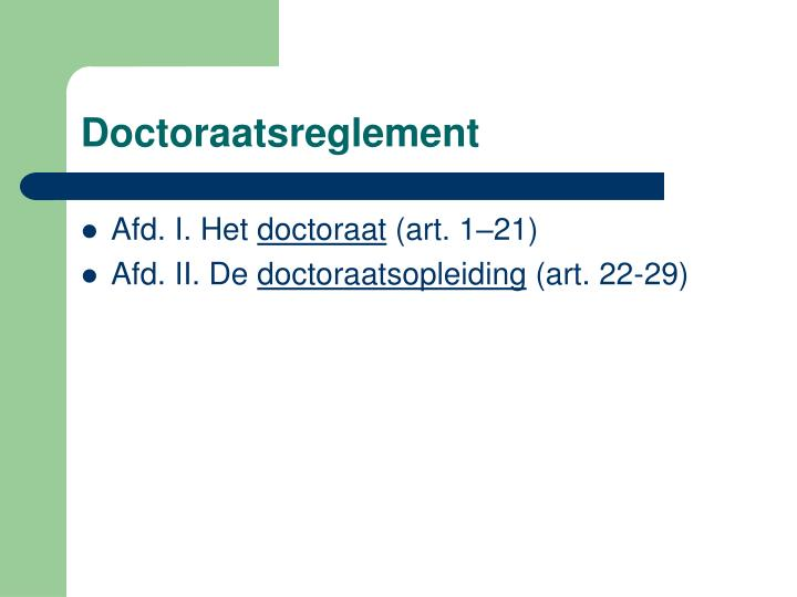 Doctoraatsreglement