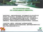da sustentabilidade do licenciamento ambiental1