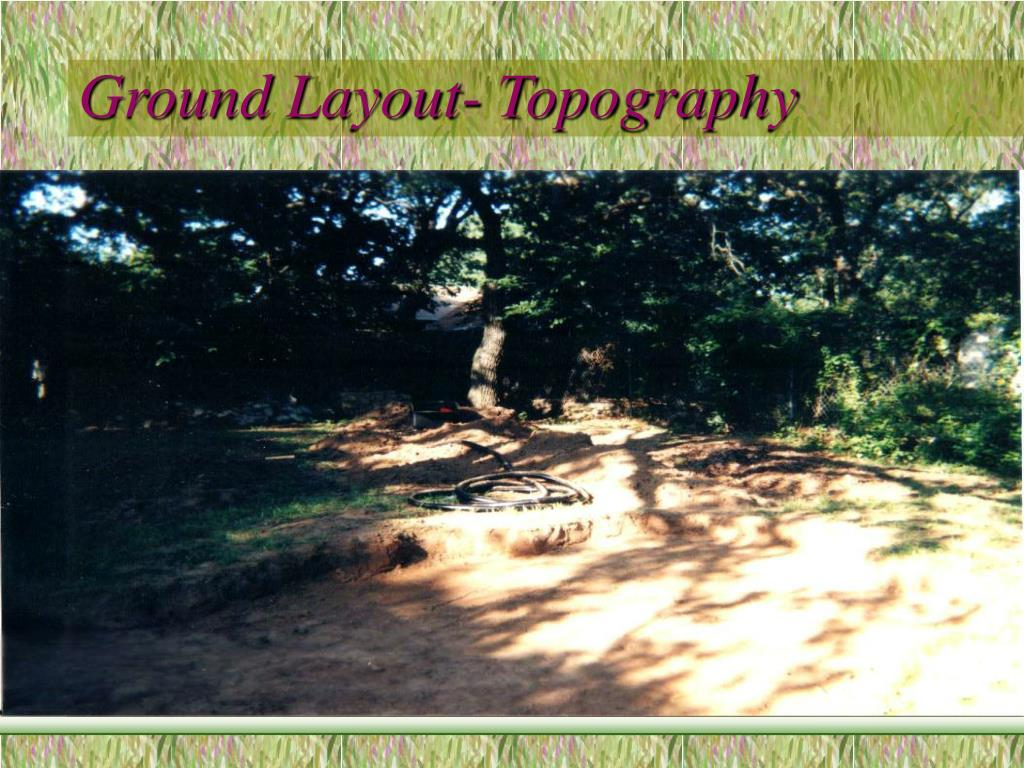 Ground Layout- Topography