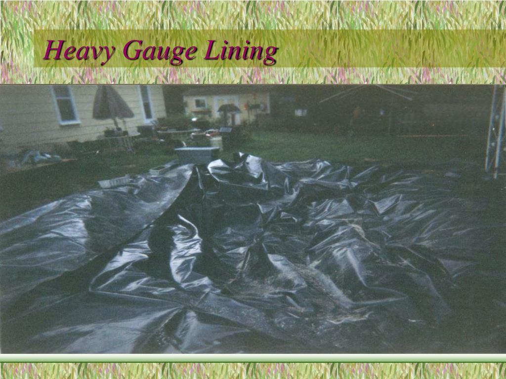 Heavy Gauge Lining