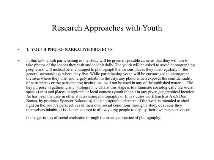 Research Approaches with Youth