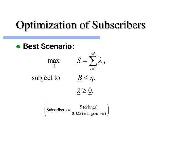 Optimization of Subscribers