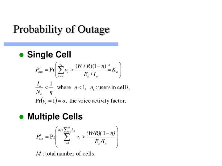 Probability of outage