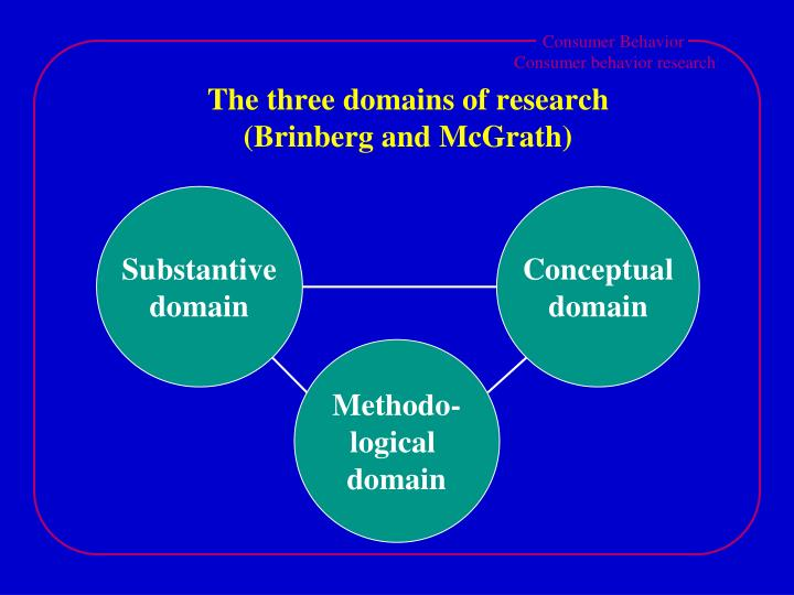 The three domains of research brinberg and mcgrath