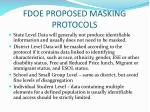 fdoe proposed masking protocols