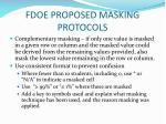 fdoe proposed masking protocols2