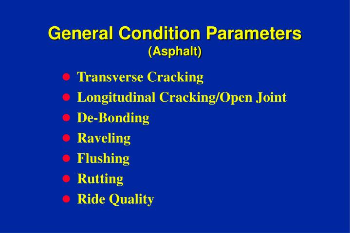General Condition Parameters