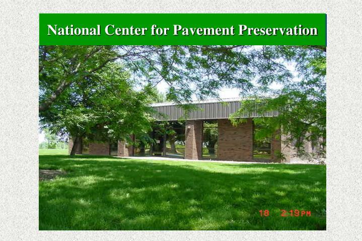 National Center for Pavement Preservation