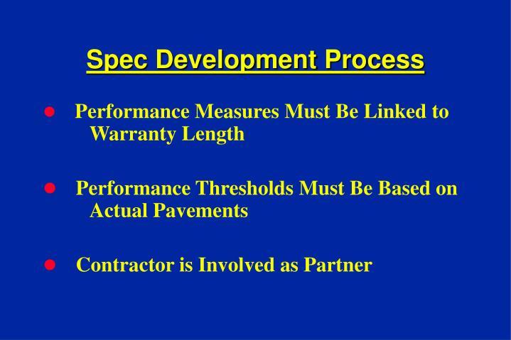 Spec Development Process